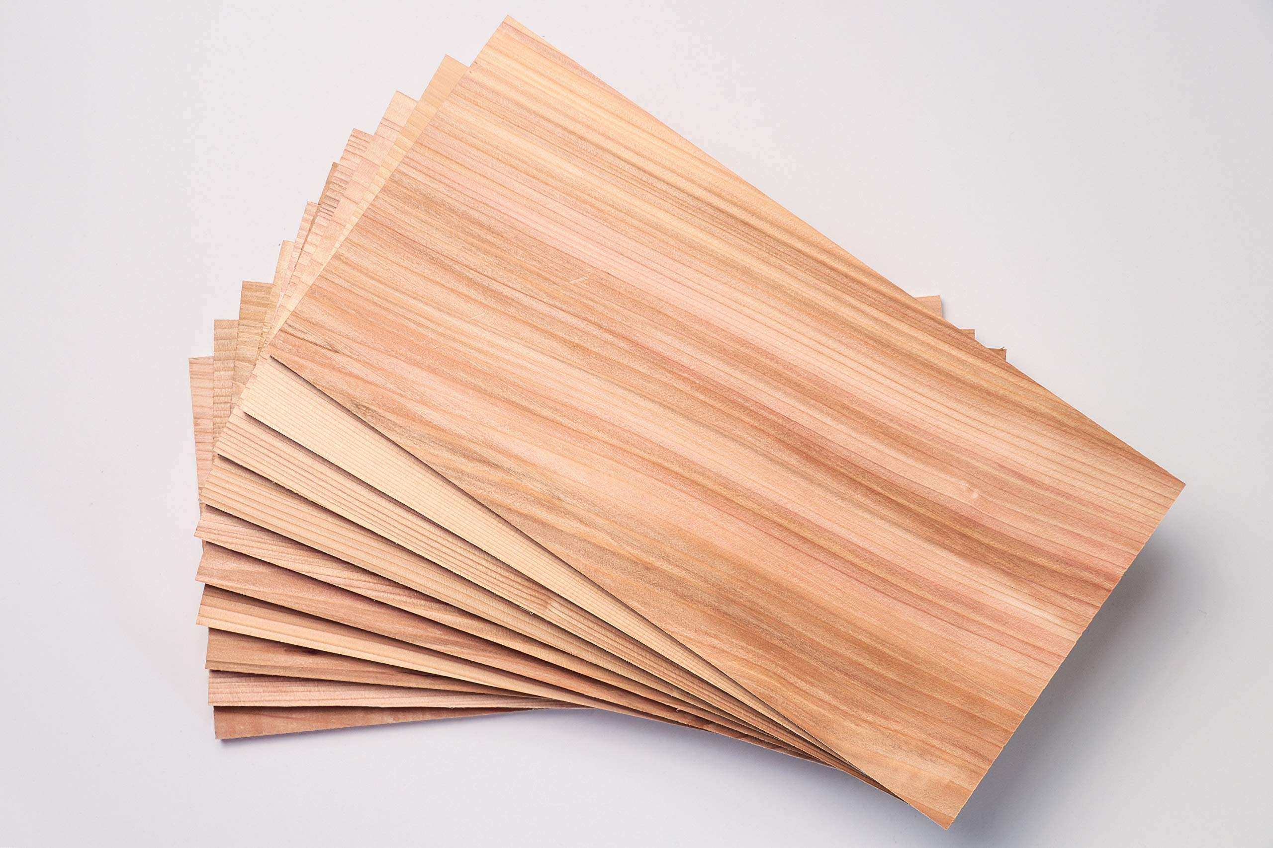 Premium Cedar Grilling Planks - 10 Pack 7'' x 14'' x 3/8 Thick. This is A True Western Red Cedar Grilling Plank Grown in The Pacific Northwest USA