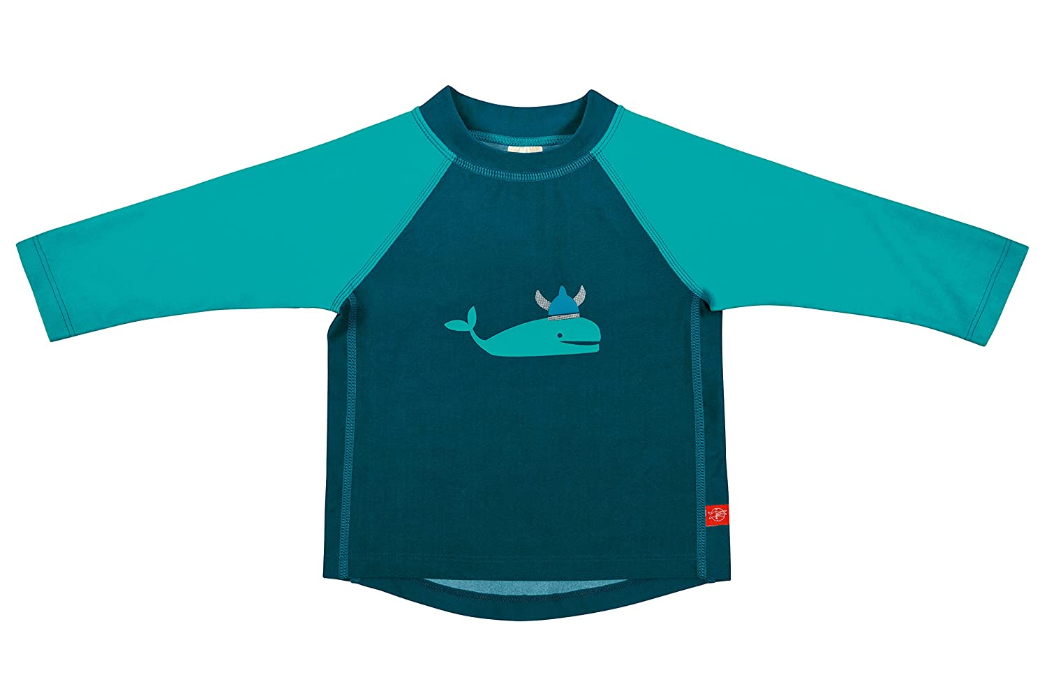 Lassig Baby Long Sleeve Rash Guard Swim Shirt boys UV-protection 50+ Blue Whale, L/18 Mo, Multicolor LSFRGLB304-18