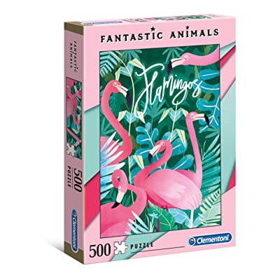 Clementoni 35067 35067-Fantastic Animals Puzzle-Flamingos-500 Pieces, Multi-Coloured: Toys & Games