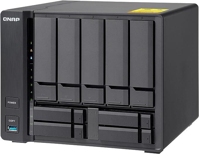 QNAP TS-932X-2G 20TB Solución de NAS de Escritorio de 9 bahías | Instalado con 5 x 4 TB Western Digital Red Drives