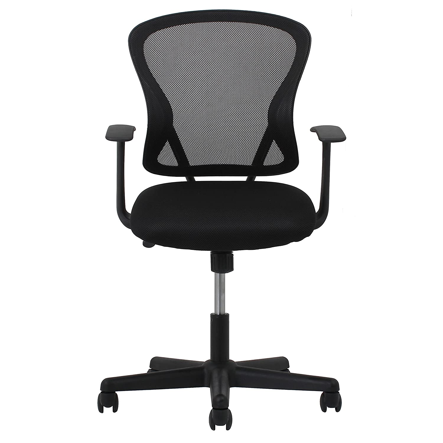 Amazoncom Essentials Swivel Mesh Task Chair With Arms - Work chair