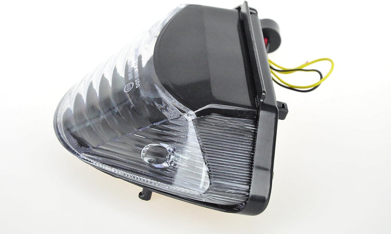 2006 CB600 Hornet; 2002 Luz trasera LED para motocicleta con intermitente integrado para Honda 2003 2006 CB900 Hornet transparente