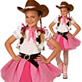 Girls Cowgirl Cutie Adorable Costume - 3 Piece Quality Costume