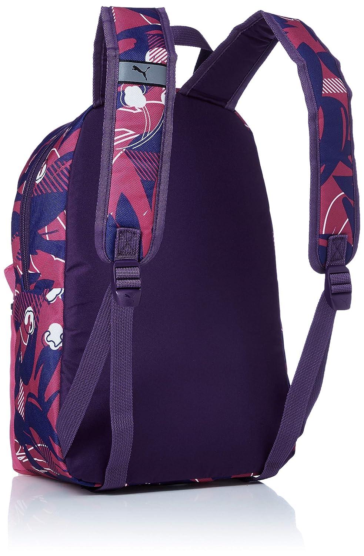 7421b3646b0f1 Puma Kinder Phase S Backpack Rucksack Fuchsia Purple-AOP