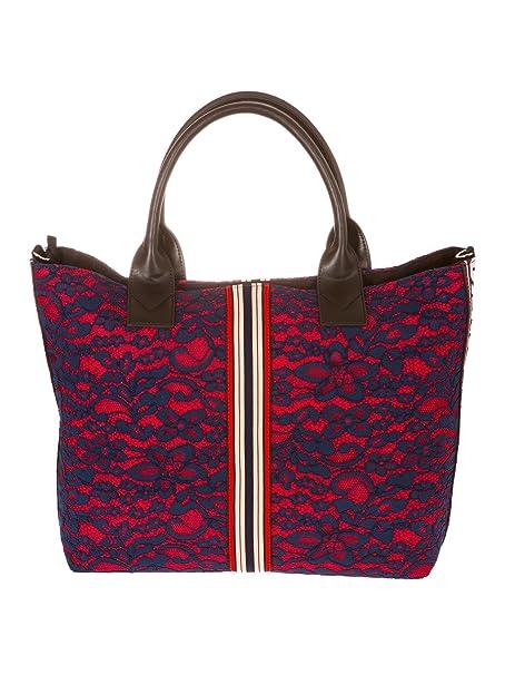 PINKO BAG bondella shopping grande 1h20dh y4cfer1 blu rosso a8e Taglia uni  primavera estate  Amazon.it  Abbigliamento 5be7b4dbc1d
