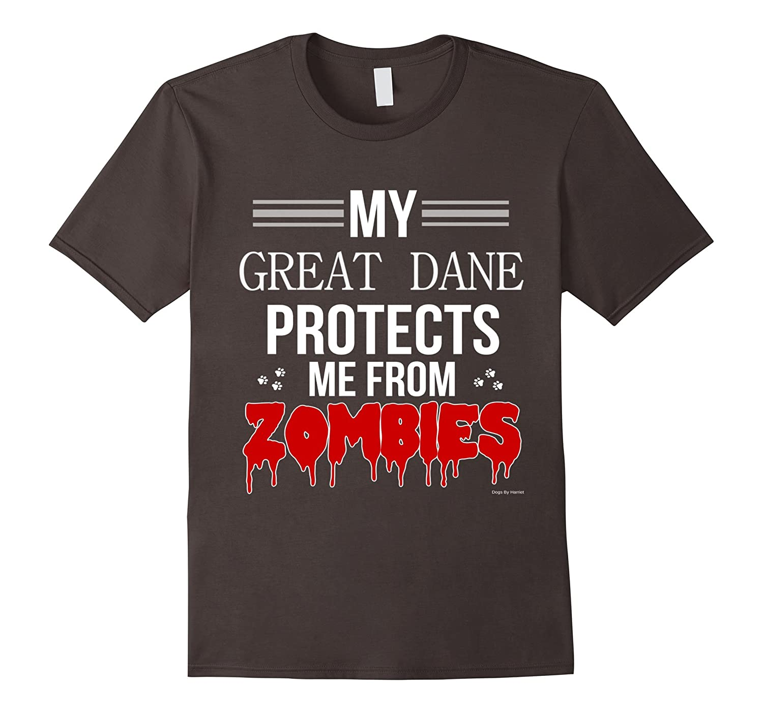 Funny Zombie Great Dane - Dog Shirt-TH