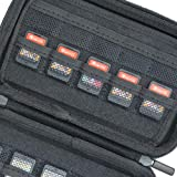 Jun Xuan Game Card Storage Case for Nintendo Switch Games or PS Vita or SD Memory Cards, Black