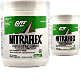 GAT Clinically Tested Nitraflex, Testosterone Enhancing Pre Workout Pack of Two 30 Servings (GreenApple 2 x 30svg)
