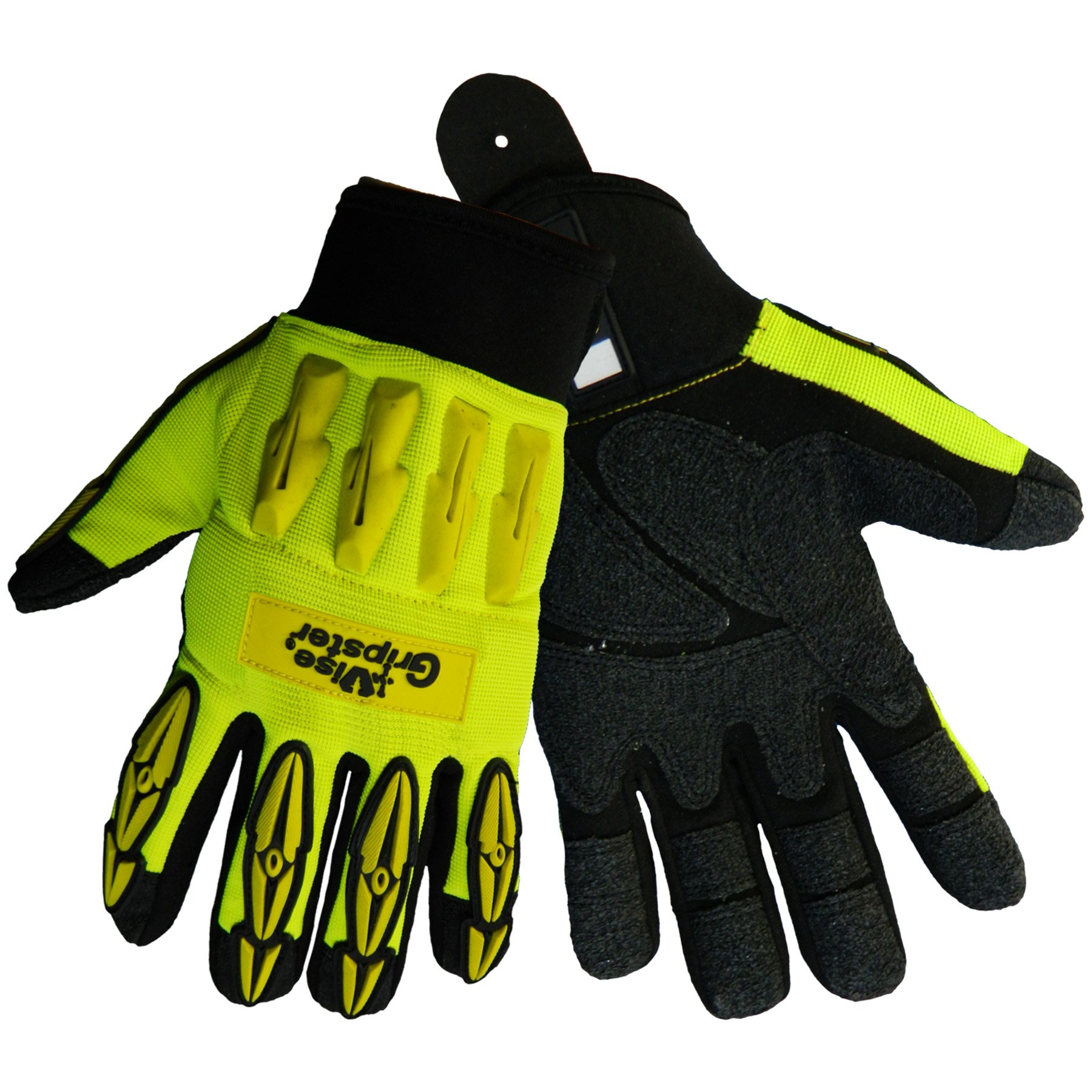 Global Glove SG9977 Vise Gripster Roughneck Glove with TPR Impact Protection, Work, 2X-Large (Case of 48)