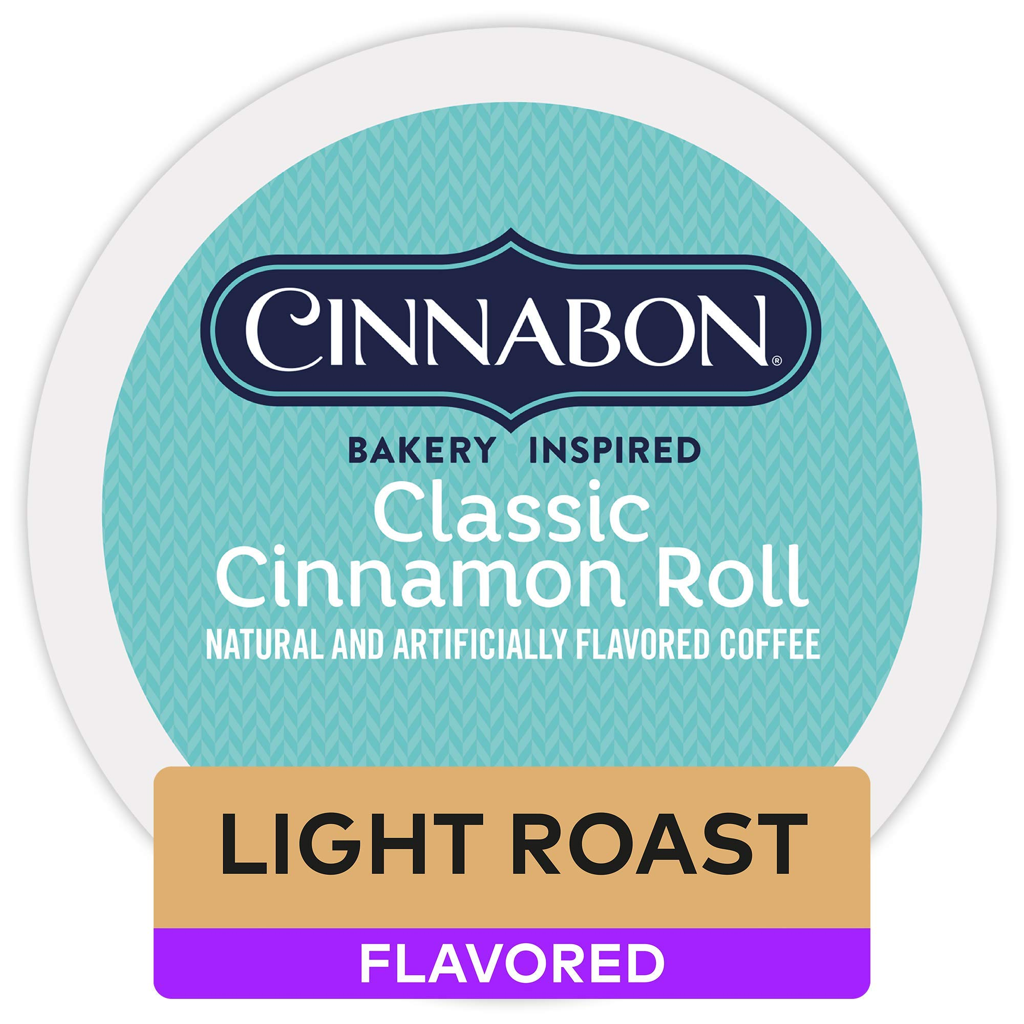 UNK Premium 2-Pack Classic Cinnamon Roll, Single Serve Coffee K-Cup Pod, Flavored Coffee, 12 Count, Pack of 6 by CINNABON