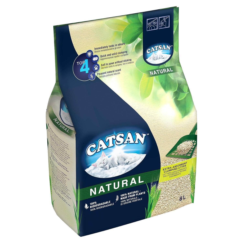 Catsan Arena para Gatos (Biodegradable, 8 L): Amazon.es: Productos ...