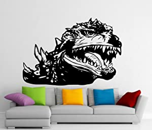 Godzilla Wall Decal Nursery Sign Movie Monster Cinema Theater Decor Children Gifts Removable Vinyl Sticker Kids Room Decor Home Wall Art Bedroom Decoration Print Playroom Poster Mural 116z