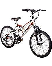 """F.lli Schiano Rider Power 18V Bicicletta Biammortizzata, Bianco/Rosso, 26"""""""