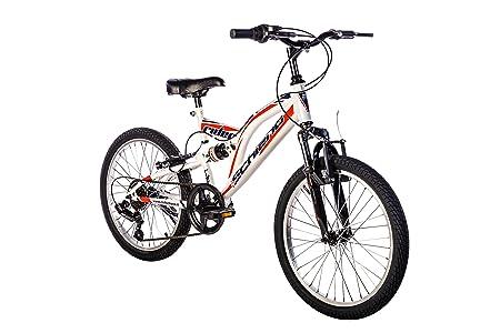 F.lli Schiano Rider Power 18V Bicicletta Biammortizzata, Nero/Rosso