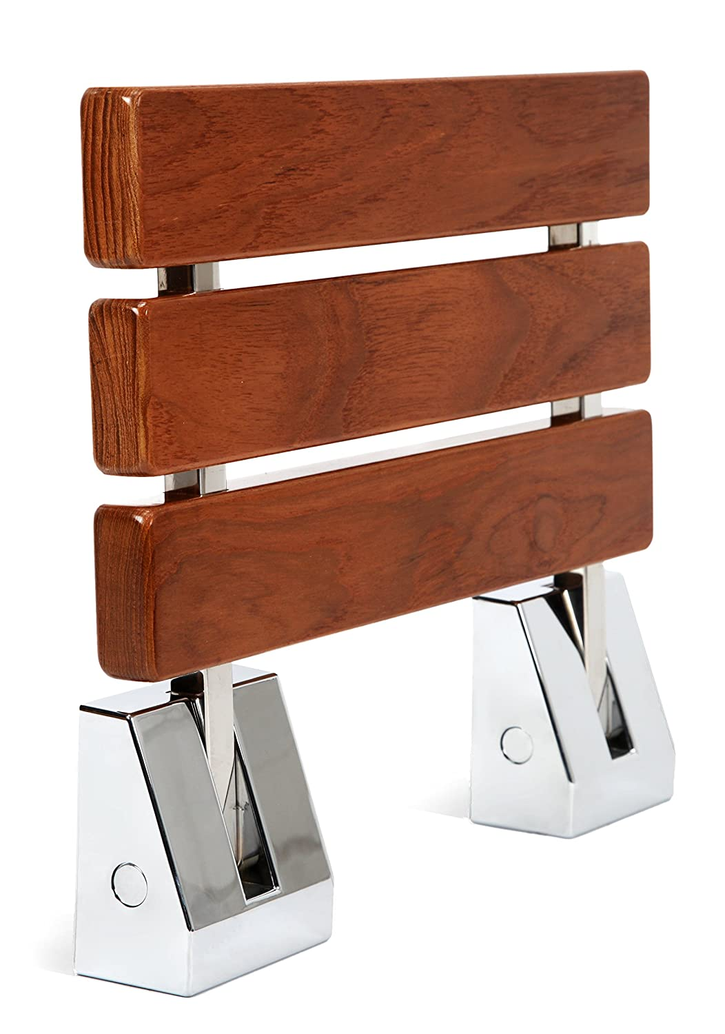 Amazon.com: Kenley Folding Shower Seat Wooden Wall Mounted Bench ...