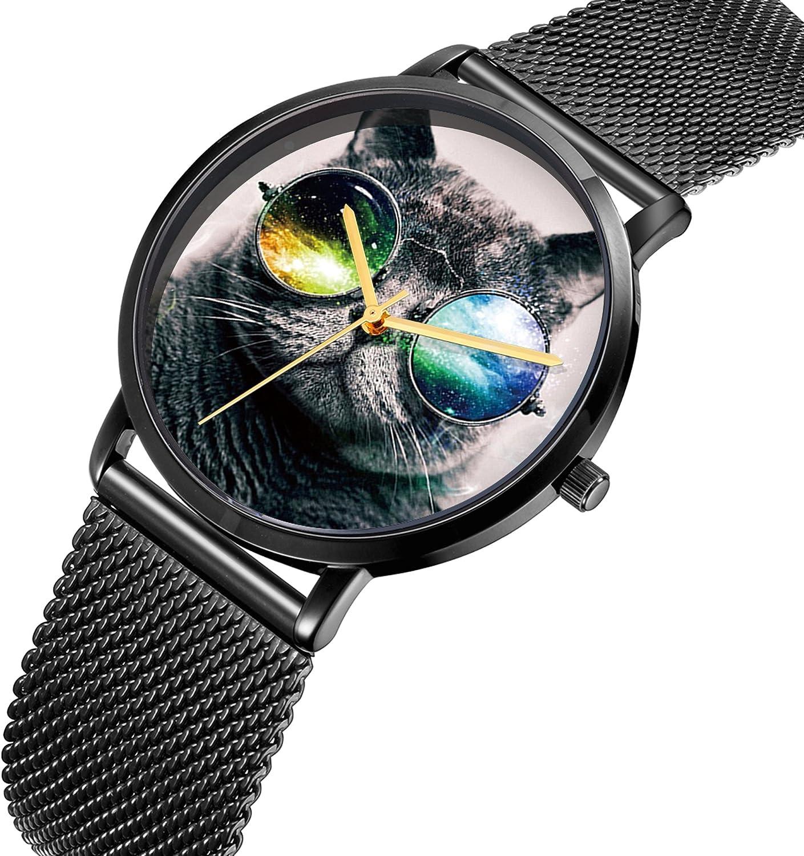 Watch, Men's&Women's Casual Wrist Watches, Classic Waterproof Watch Steel Case, Personalized Pattern Mesh Alloy Band