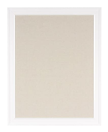 Amazon.com: DesignOvation 209413 Bosc Framed Linen Fabric Pinboard ...