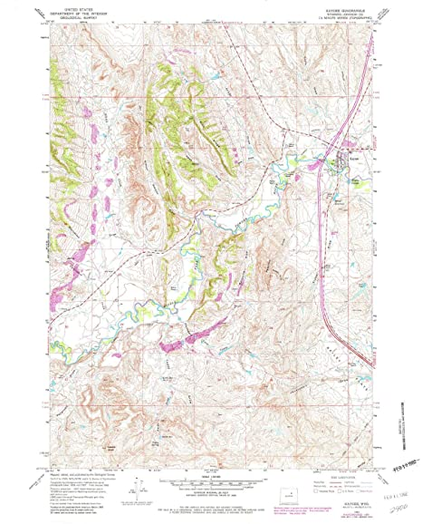 Amazon.com : YellowMaps Kaycee WY topo map, 1:24000 Scale, 7.5 X 7.5 on rock springs wyoming on us map, laramie wyoming on us map, cheyenne wyoming on us map, green river wyoming on us map,