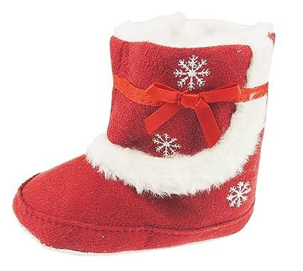 Zapatillas de invierno para bebé, diseño de copos de nieve ...