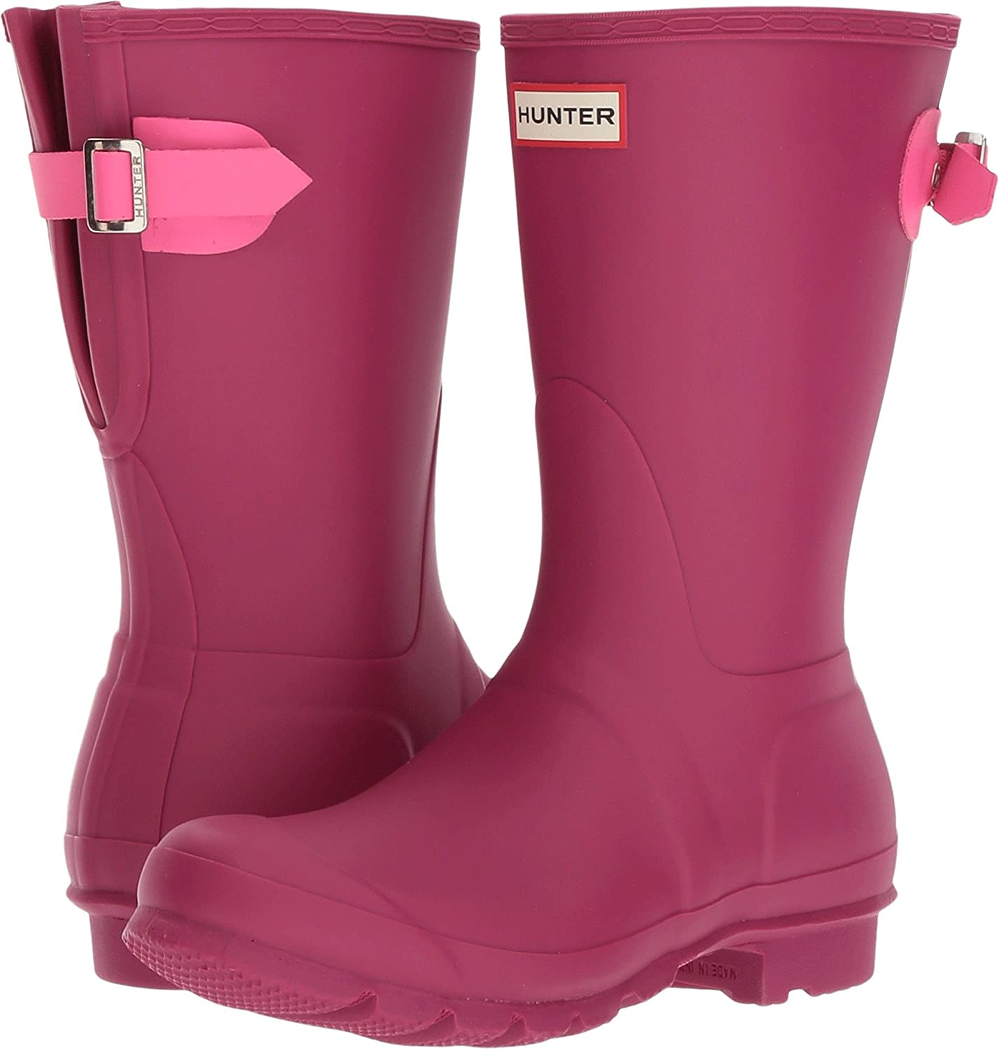 Hunter Women's Original Short Back Adjustable Rain Boot B06ZZZCJXG Pink/Ion 5 B(M) US|Dark Ion Pink/Ion B06ZZZCJXG Pink f2c3b3