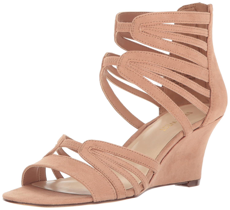 Nine West Women's Raleigh Suede Wedge Sandal B01NA7AXLD 7 B(M) US Natural