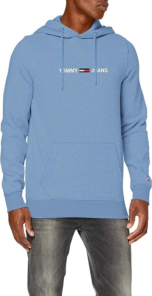 TALLA S. Tommy Jeans TJM Straight Logo Hoodie Sudadera con Capucha para Hombre