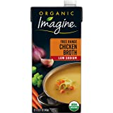 Imagine Organic Free Range Chicken Broth, Low Sodium, 32 Fl Oz (Packaging May Vary)