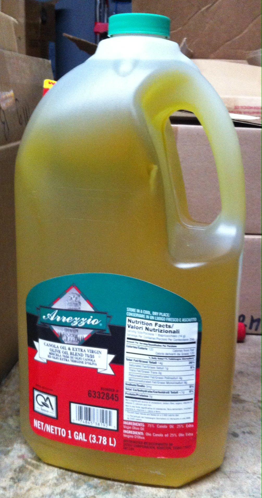 Canola Oil Extra Virgin Olive Oil Blend 75/25