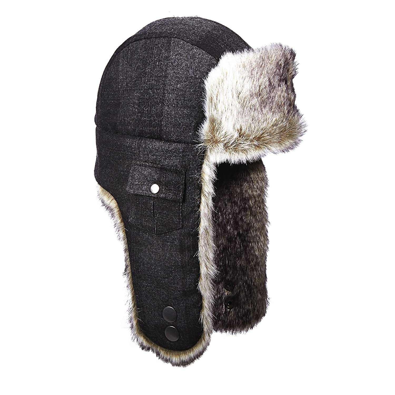 Woolrich Wool Plaid Arctic Trapper Hat