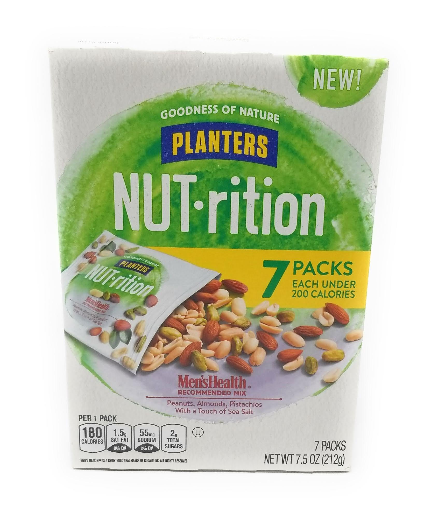 Planters Nut-rition Men's Health 6-1.25 Oz Net Wt 7.5 Oz (Pack of 4 Boxes)
