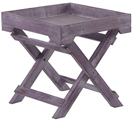 Small Vintage Style Side Table U2013 Purple Shabby Chic 31 Cm Holz