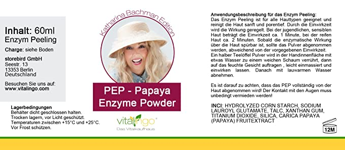 PEP - Papaya Enzima Powder - Katharina Bachman Edición 60ml Papaya ...