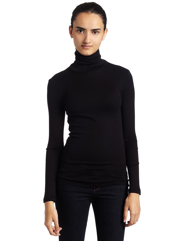 Amazon.com: Three Dots Women's Long-Sleeve Turtleneck Shirt: Clothing