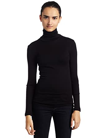 Amazon.com: Splendid Women's 1x1 Long-Sleeve Turtleneck Sweater ...