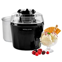 """Andrew James Ice Cream Maker Machine - Voted """"Best Buy"""" By Which? Magazine - 1.5 Litre Bowl - Frozen Yogurt & Sorbet Maker With Detachable Mixing Paddle Large Ingredients Funnel Dispenser & Recipes Suggestions Included - Also Includes Spare Ice Cream Making Bowl"""