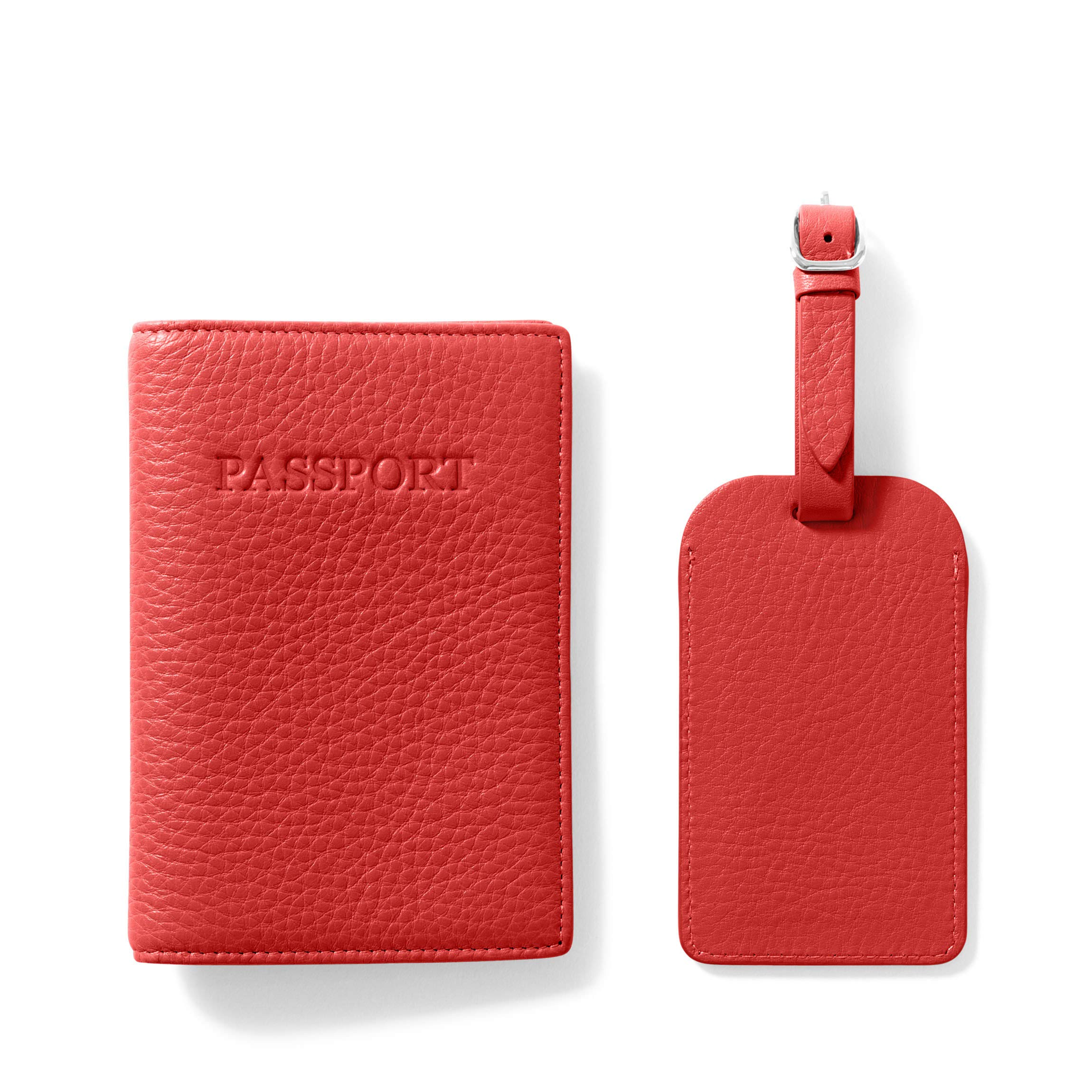 Leatherology Scarlet Passport Cover + Luggage Tag by Leatherology