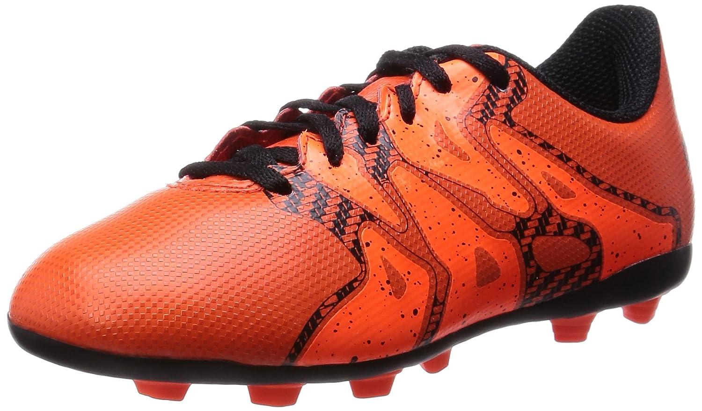 Adidas X 15.4 FxG Festen Boden Junior Kinder Fußball Boot Breite Orange - 30.5