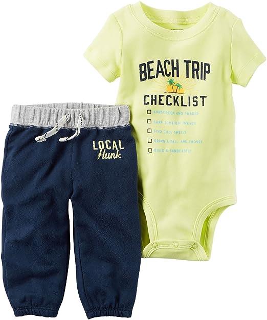 Amazon.com: Carter Baby Boys – Conjunto de playa de 2 piezas ...