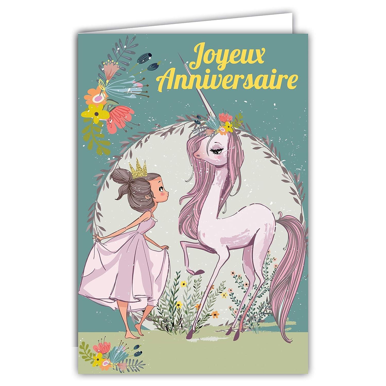 67-1110 - Tarjeta de cumpleaños con diseño de unicornio ...