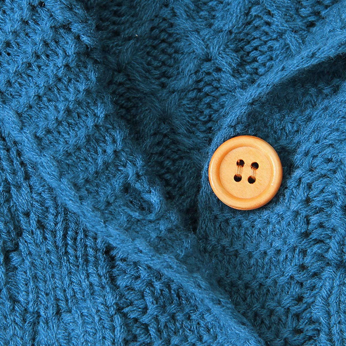 Tianhaik Maglioni Cardigan Autunno Inverno Bambino Cappotto Lavorato a Maglia alluncinetto Giacca con Cappuccio Giacca Outwear
