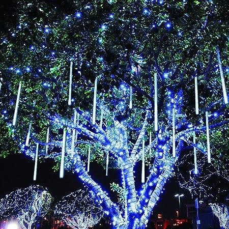 Twinkle Star Meteor Shower Rain Lights 30cm 8 Tubes 288 Led Icicle Snow Falling Christmas Lights Outdoor Raindrop Lights Xmas Wedding Party Tree