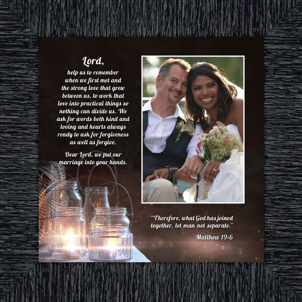 Personally Yours Marriage Prayer with Scripture, A Matthew Bible Verse, True Love Picture Frame, 10x10 6374CH
