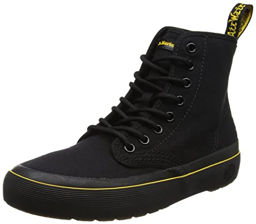 Dr. Martens Women Monet Canvas Boots, Black (Black Canvas), 3 UK