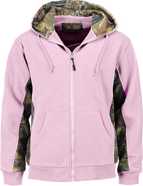 Neon Coral Fur Style Hoodie Ladies Zip Jacket Very Soft To The Touch