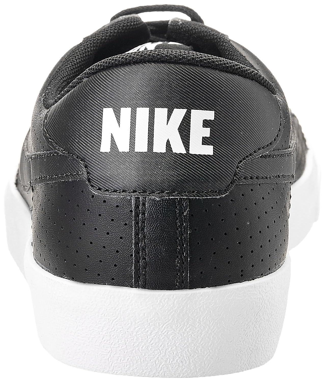 nike mens tennis classico nero di pelle bianca.