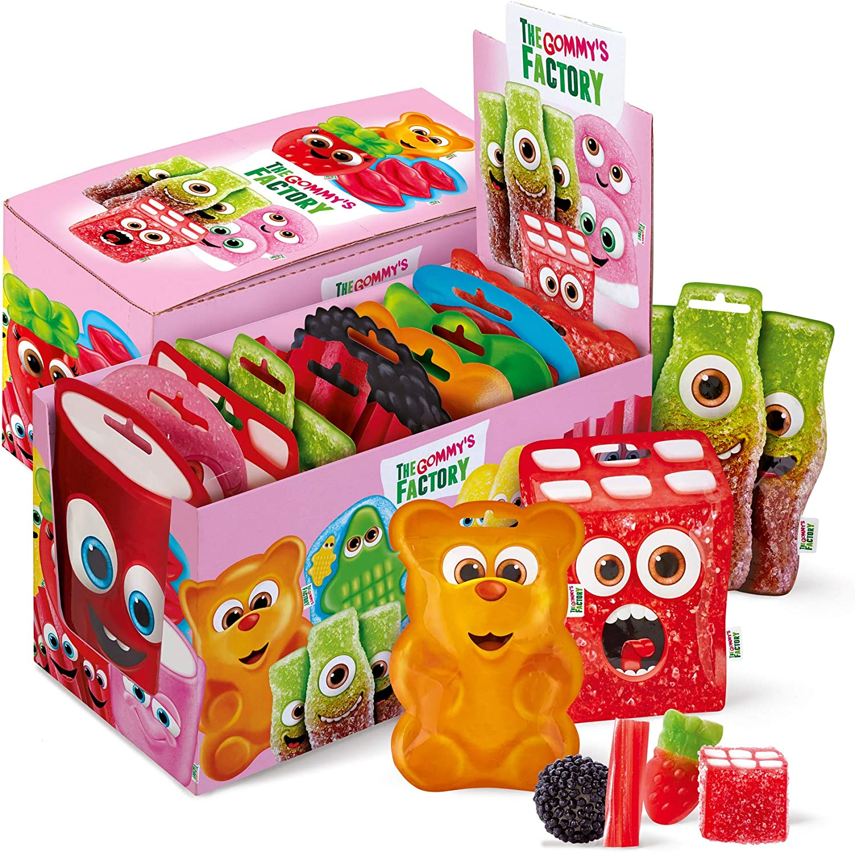 Gommy´s Factory, Golosina (Happy box) - 10 de 90 gr. (Total 900 gr.)