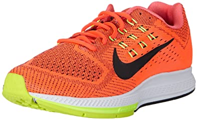 huge selection of 3c2ba 9f4d3 Nike Men s Air Zoom Structure 18 Running Shoe Bright Crimson Black-Volt-