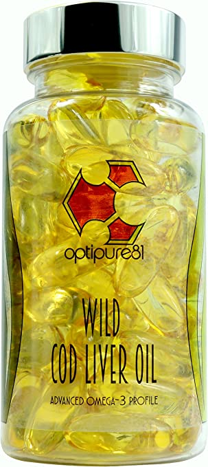 Wild Cod Liver Oil by Optipure81 - Ethically Sourced - Heavy Metal and Toxin Free -