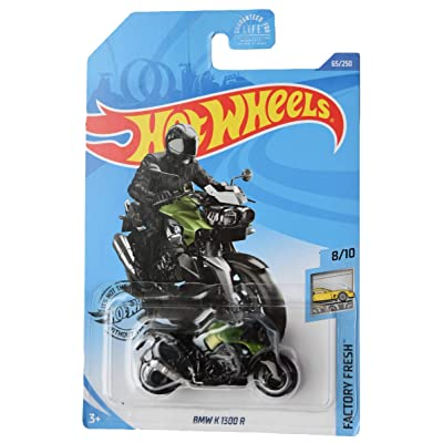 Hot Wheels 2020 Factory Fresh BMW K 1300 R Motorcycle 65/250, Black and Green: Toys & Games