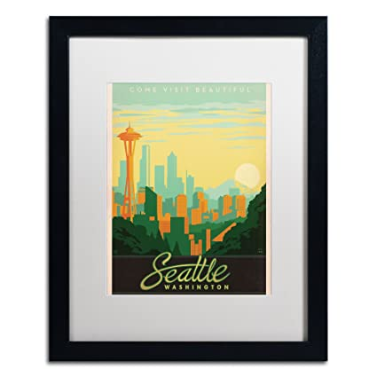Amazon.com: Seattle Canvas Art by Anderson Design Group, 16 by 20 ...